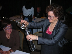 Sara Silverstone, RAC-CEMS' Executive Director makes a lava lamp. Picture c/o Ed Darling