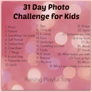 31 Day Challenge from Raising Playful Tots.com