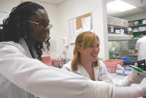 Students at the Rochester General Hospital Clinical Laboratory Technology Program