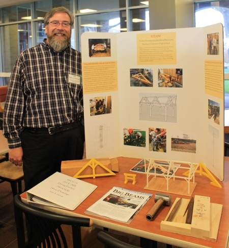 2016 STEM Program Award Recipient, Wayland-Cohocton Timber Framing and Woodland Resources/ Photo credit: Nadia Harvieux.